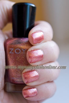Zoya Tiffany on the nails