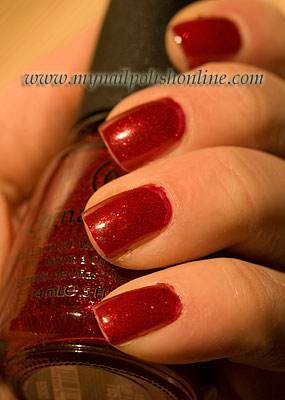 China Glaze Ruby Pumps on Nails