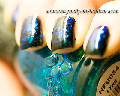 OPI Black Onyx + Nfu-oh #54 = True