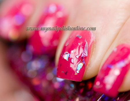 Color club - Fame & Fortune over OPI - My address is Hollywood