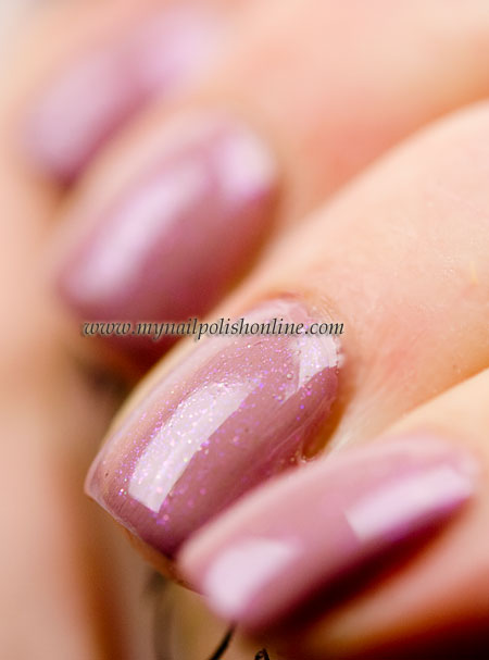 Essie Lady Like with CND Amethyst Sparkle