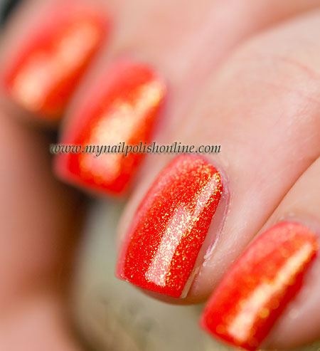 Essie Ole Caliente with CND Jade Sparkle