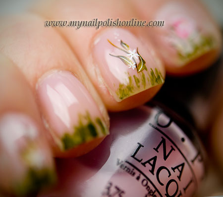 Nail Art Water Decal - Right Hand
