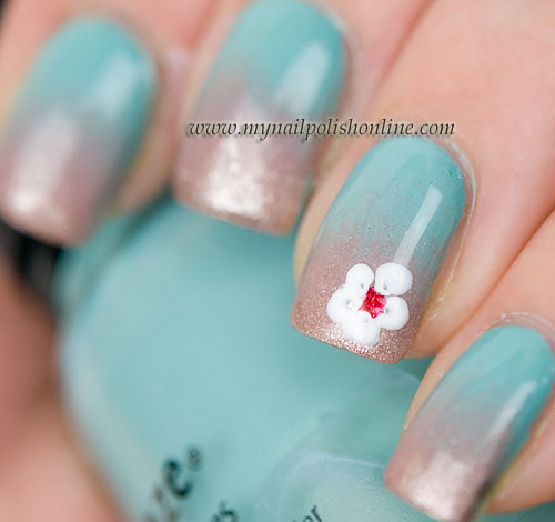 Gradient with flower