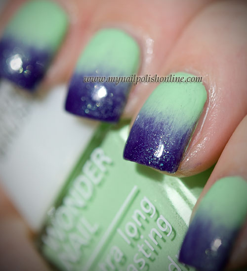 Green and Purple Gradient