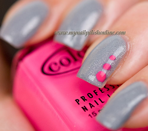 Neon Nail Polish Online: Neon Dots Over Depend 285
