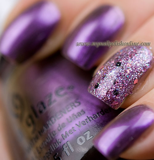 Vivid Lacquer - Your Princess is in another castle and China Glaze No Plain Jane
