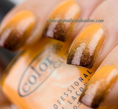 Diy Autumn Gradient Nail Art: My Nail Polish Online