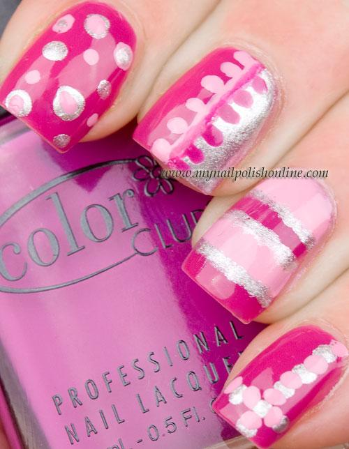 Pink nail art | My Nail Polish Online