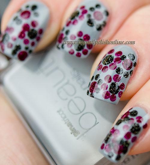 Flowers on grey