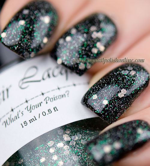 Elixir Lacquers - We sisters three over black