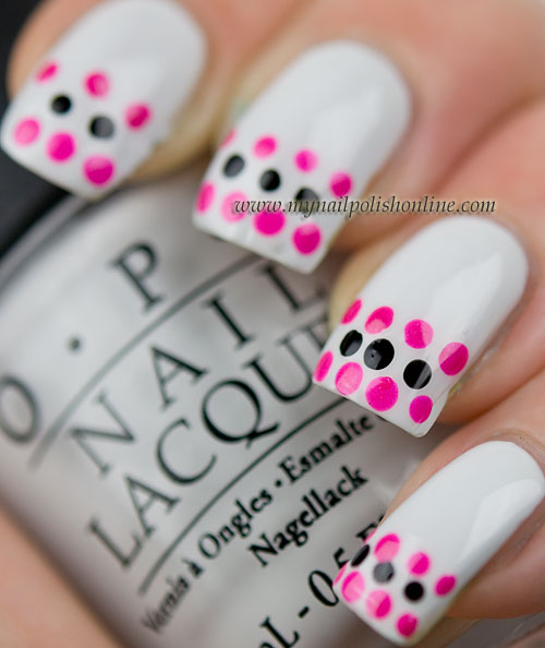 Dotticure with french tips on white
