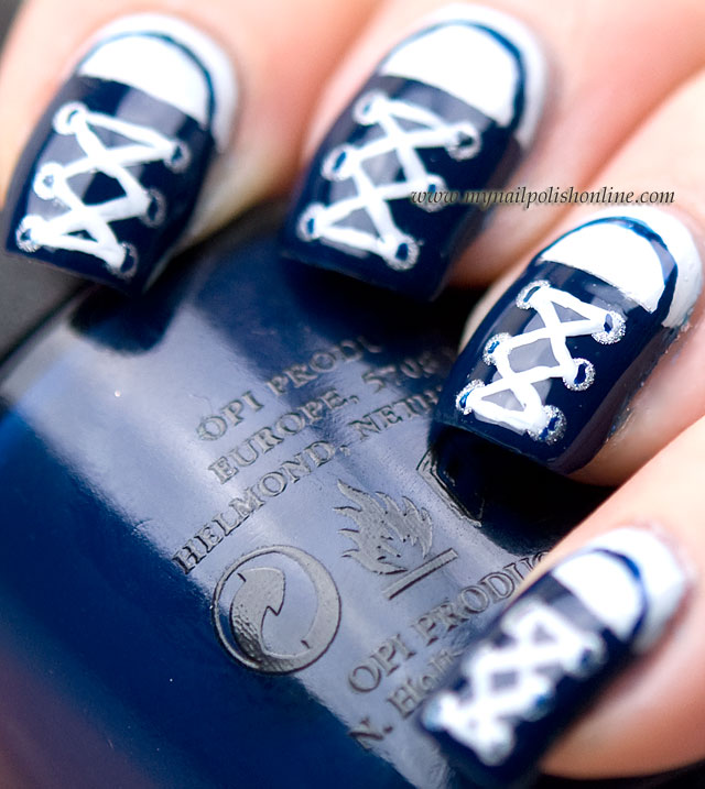 Nail Art Couture Converse Nail Art: My Nail Polish Online