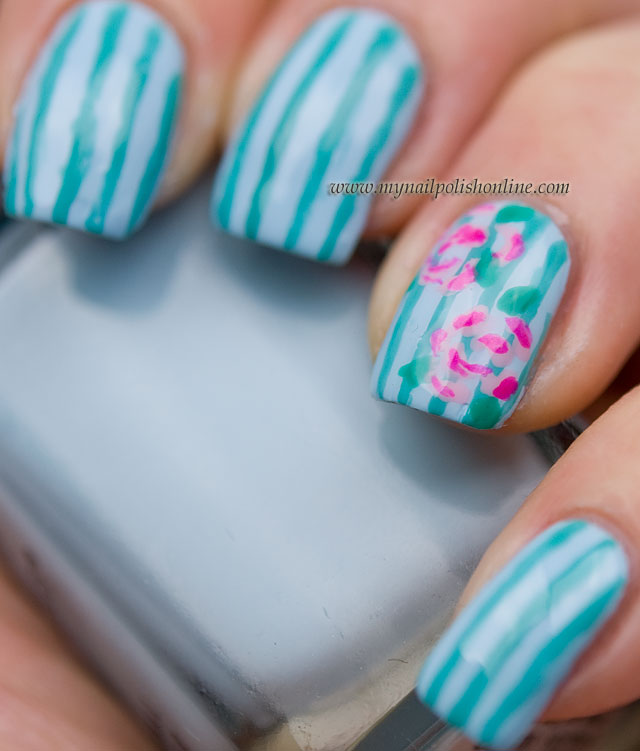 Concrete And Nail Polish Striped Nail Art: My Nail Polish Online