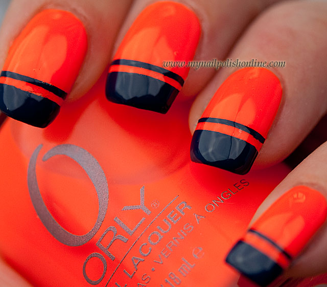 Nail Art Sunday – Strips on neon | | My Nail Polish Online