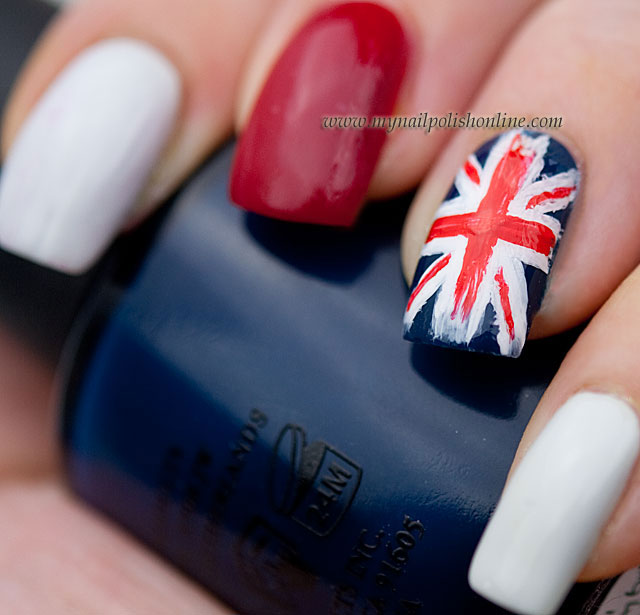 Nail art sunday union jack my nail polish online union jack prinsesfo Image collections