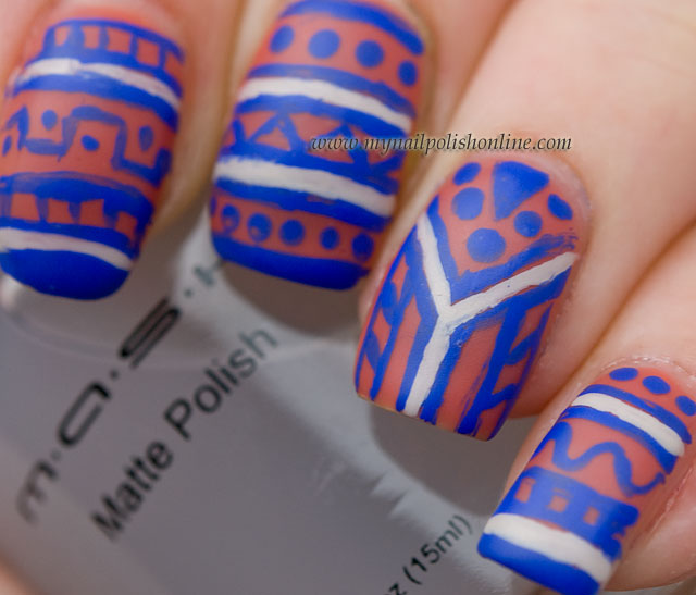 Tribal nails mattified