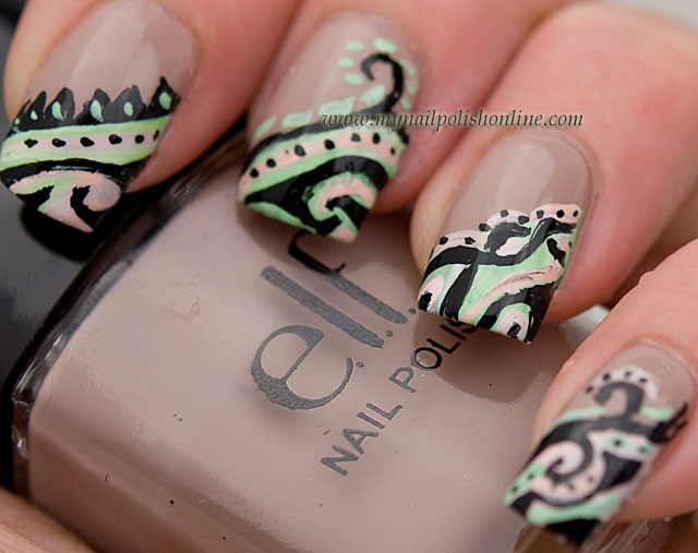 stickers nail tribal inspired Tribal shapes tribal in Outline a 11. your Nails : Textured