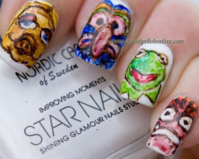 Nail Art - The muppets