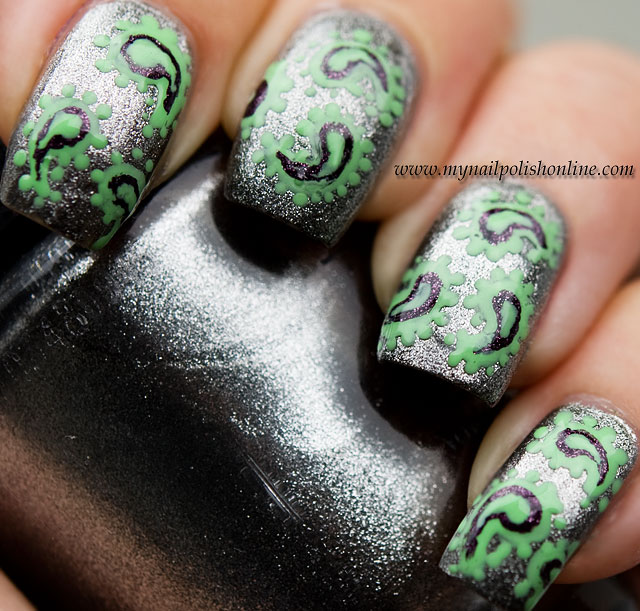Day 8 - Metallic Nails