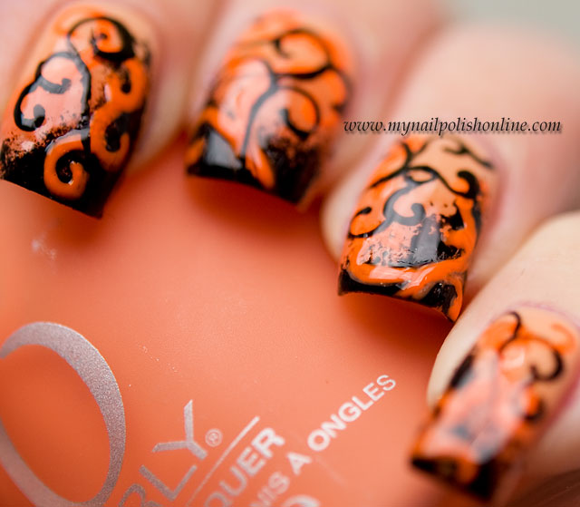 Halloween nail art more is more my nail polish online halloween nail art prinsesfo Image collections