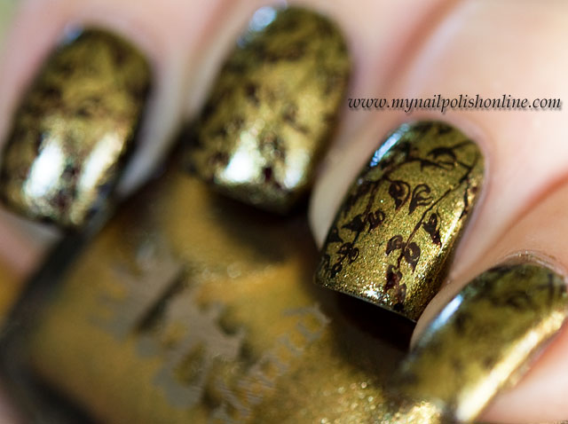 #busygirlnails - Week 1 Antique Gold