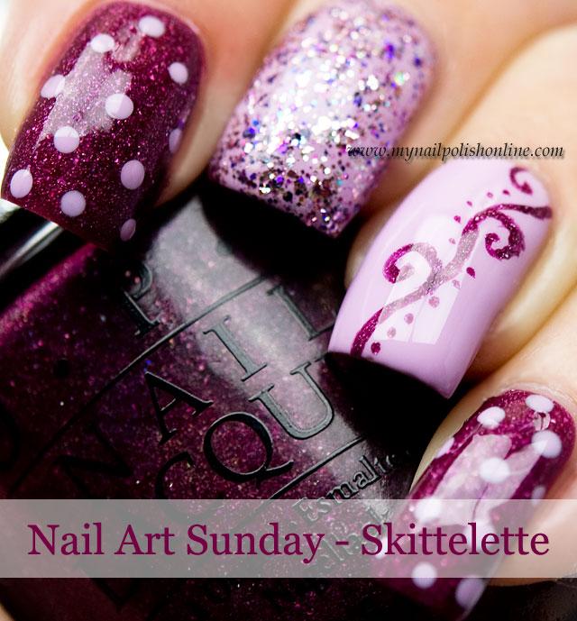 Nail Art Sunday - Skittelette