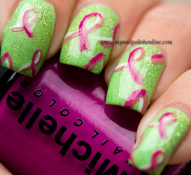 Nail Art Sunday - United In Pink - Pink Ribbon - My Nail Polish Online