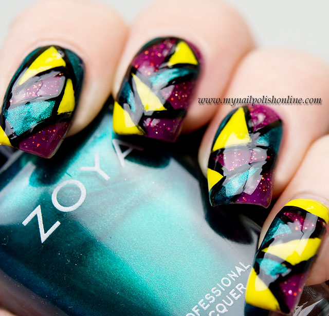 Stained Glass Nail Art: Stained Glass Manicure