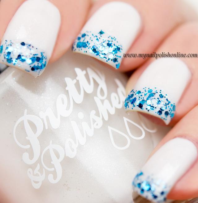 Nail art glittery tips my nail polish online nail art glittery tips prinsesfo Image collections