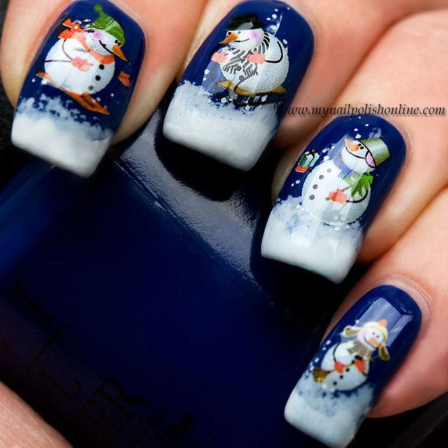 nail art sunday snowmen my nail polish online