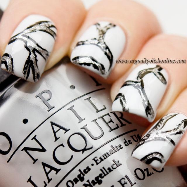White Nail Polish In Winter: #busygirlnails Winter Nail Art Challenge – White