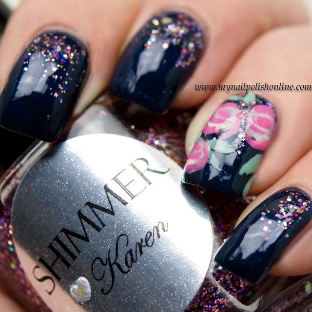 February Nail Art Challenge Simple With Roses