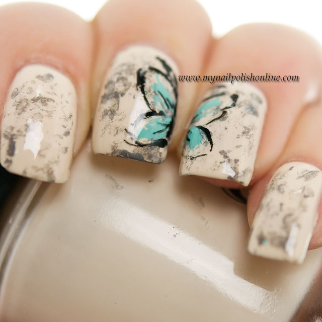 Nail Art Sunday - Vintage Butterfly