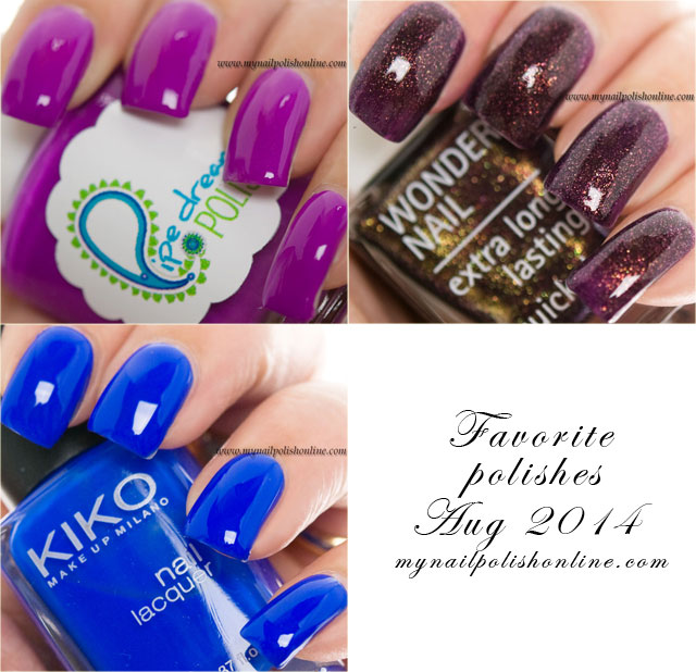Favorite polishes August 2014