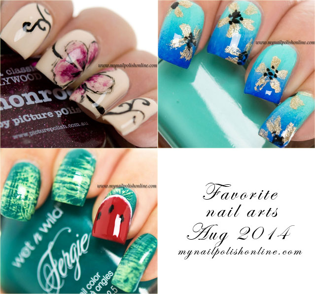 Favorite nail art August 2014