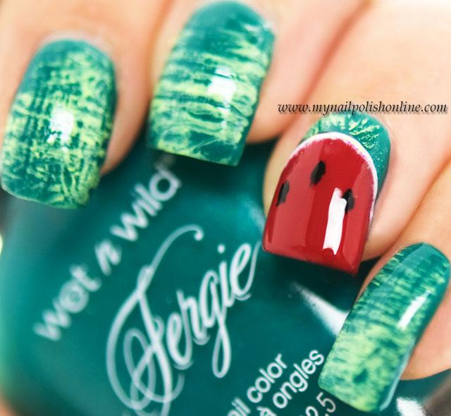 Nail Art - Water melon nails
