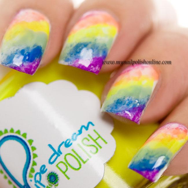 31DC2014 Day 9 - Rainbow Nails