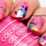 Splatter Manicure with Revlon Polishes