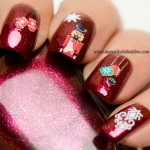 Christmas nail art with decals