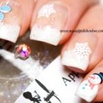 Snowy nails - Nail art