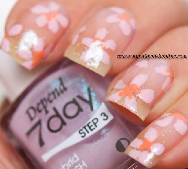 Nail art spring flowers my nail polish online nail art spring flowers mightylinksfo
