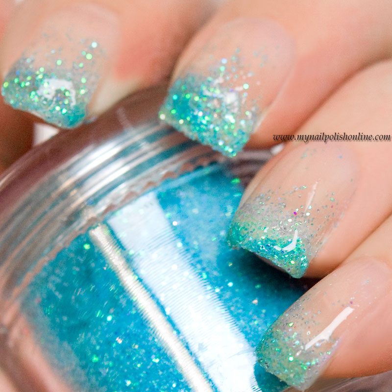 Gradient With Loose Glitter My Nail Polish Online