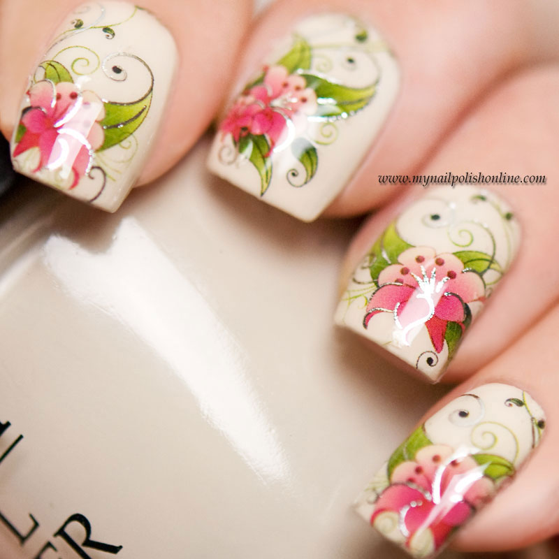 Nail Art With Water Decals