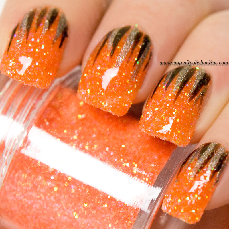 Waterfall on orange loose glitter