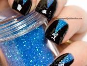 Blue glitter triangles
