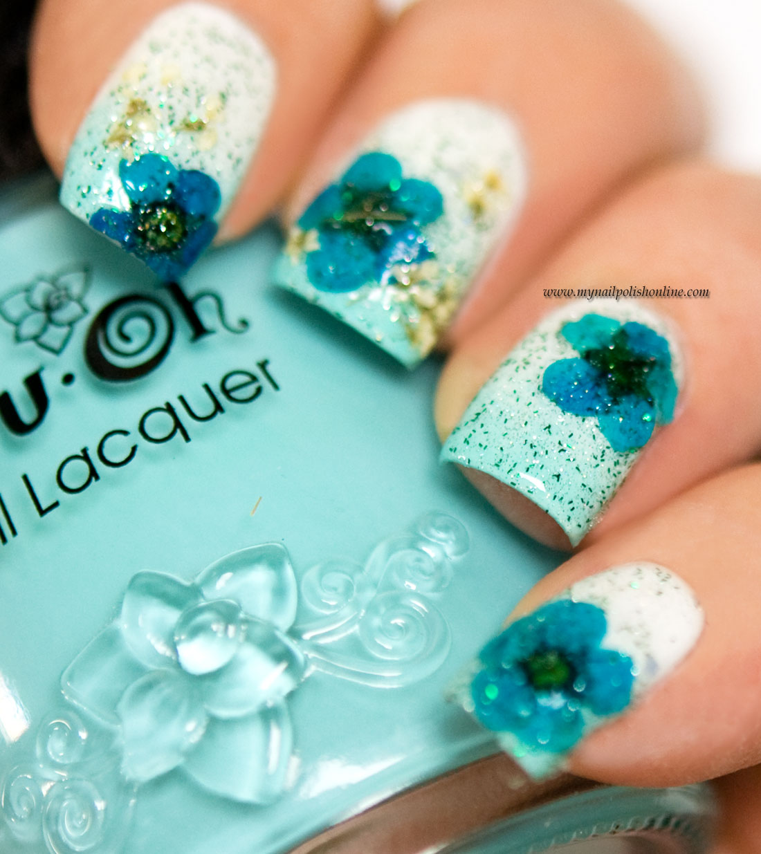 How to make dried flowers for nail art best nail ideas nail art fl design with dry flowers my polish prinsesfo Gallery