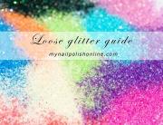 Loose glitter guide