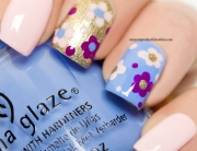 Nail Art with flowers