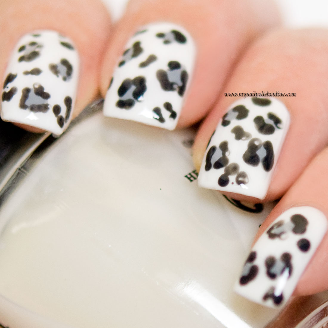 Nail Art - Snow Leopard